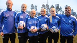 Fire av BIL-jentene i Norway Cup 2012
