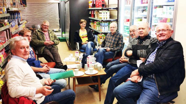 Møte i butikklokalet på Herefoss